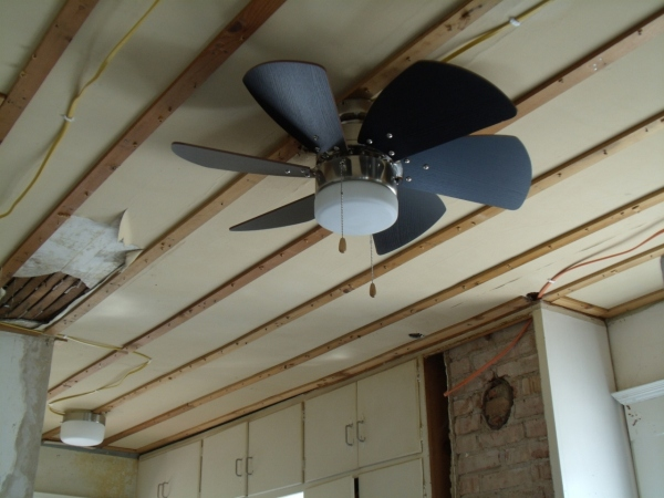 New ceiling fan and light