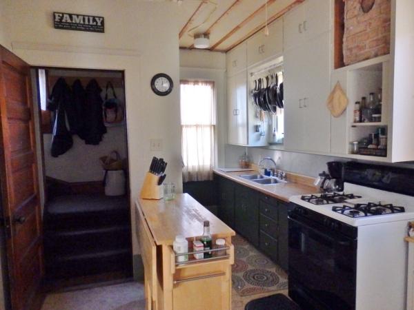 kitchen end view